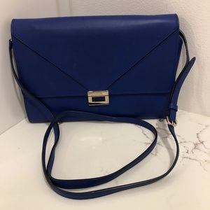 Tod's blue Leather Cross body Clutch
